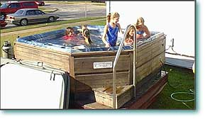 Six to eight person hot tub rental